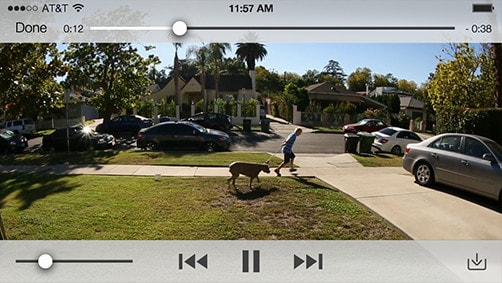 Ring Video Doorbell - Motion detection